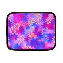 Pink and Purple Marble Waves Netbook Case (Small)