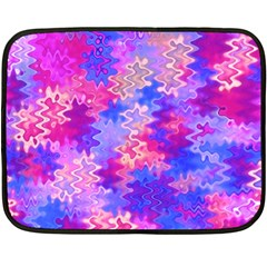 Pink and Purple Marble Waves Double Sided Fleece Blanket (Mini)