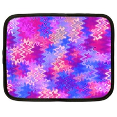 Pink And Purple Marble Waves Netbook Case (xxl)