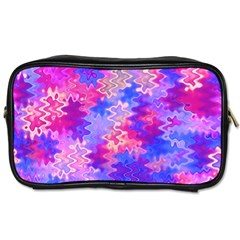 Pink and Purple Marble Waves Toiletries Bags