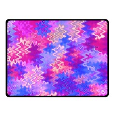 Pink and Purple Marble Waves Fleece Blanket (Small)