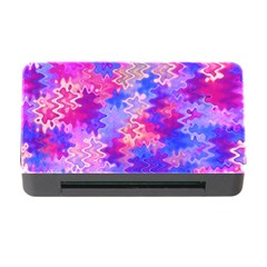 Pink and Purple Marble Waves Memory Card Reader with CF