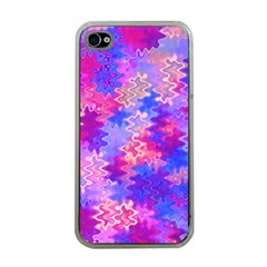Pink And Purple Marble Waves Apple Iphone 4 Case (clear)