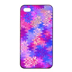 Pink and Purple Marble Waves Apple iPhone 4/4s Seamless Case (Black)