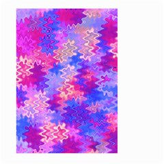 Pink and Purple Marble Waves Large Garden Flag (Two Sides)
