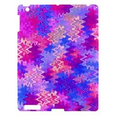 Pink and Purple Marble Waves Apple iPad 3/4 Hardshell Case