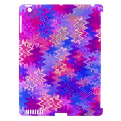 Pink and Purple Marble Waves Apple iPad 3/4 Hardshell Case (Compatible with Smart Cover)