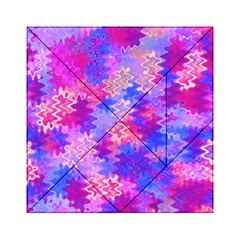 Pink And Purple Marble Waves Acrylic Tangram Puzzle (6  X 6 )