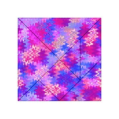 Pink and Purple Marble Waves Acrylic Tangram Puzzle (4  x 4 )