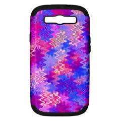 Pink and Purple Marble Waves Samsung Galaxy S III Hardshell Case (PC+Silicone)