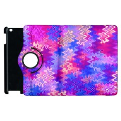 Pink and Purple Marble Waves Apple iPad 2 Flip 360 Case