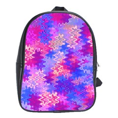 Pink and Purple Marble Waves School Bags (XL)
