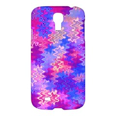 Pink And Purple Marble Waves Samsung Galaxy S4 I9500/i9505 Hardshell Case