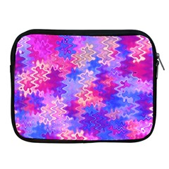Pink And Purple Marble Waves Apple Ipad 2/3/4 Zipper Cases