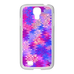 Pink and Purple Marble Waves Samsung GALAXY S4 I9500/ I9505 Case (White)