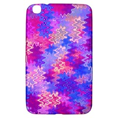 Pink And Purple Marble Waves Samsung Galaxy Tab 3 (8 ) T3100 Hardshell Case