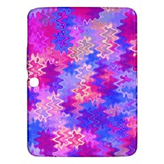 Pink And Purple Marble Waves Samsung Galaxy Tab 3 (10 1 ) P5200 Hardshell Case
