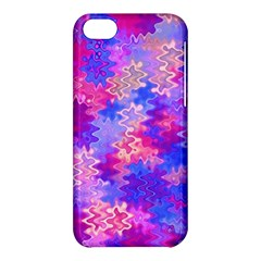 Pink and Purple Marble Waves Apple iPhone 5C Hardshell Case
