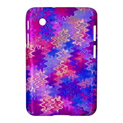 Pink And Purple Marble Waves Samsung Galaxy Tab 2 (7 ) P3100 Hardshell Case