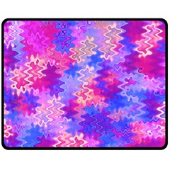 Pink and Purple Marble Waves Double Sided Fleece Blanket (Medium)