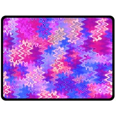Pink And Purple Marble Waves Double Sided Fleece Blanket (large)