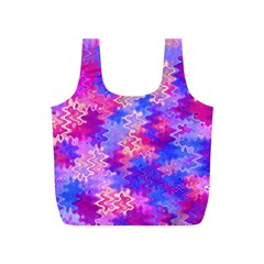 Pink and Purple Marble Waves Full Print Recycle Bags (S)