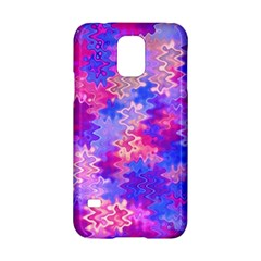 Pink and Purple Marble Waves Samsung Galaxy S5 Hardshell Case