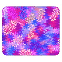 Pink and Purple Marble Waves Double Sided Flano Blanket (Small)