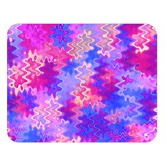 Pink And Purple Marble Waves Double Sided Flano Blanket (large)