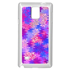 Pink and Purple Marble Waves Samsung Galaxy Note 4 Case (White)