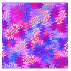 Pink and Purple Marble Waves Large Satin Scarf (Square)