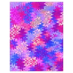 Pink and Purple Marble Waves Drawstring Bag (Large)