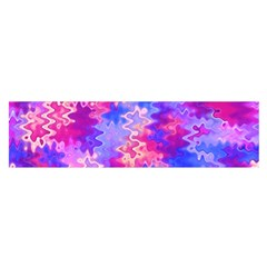 Pink and Purple Marble Waves Satin Scarf (Oblong)