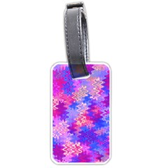 Pink And Purple Marble Waves Luggage Tags (one Side)