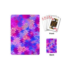 Pink And Purple Marble Waves Playing Cards (mini)