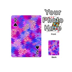Pink and Purple Marble Waves Playing Cards 54 (Mini)