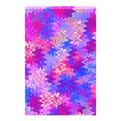 Pink And Purple Marble Waves Shower Curtain 48  X 72  (small)