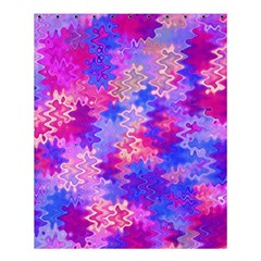 Pink and Purple Marble Waves Shower Curtain 60  x 72  (Medium)