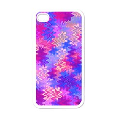 Pink And Purple Marble Waves Apple Iphone 4 Case (white)