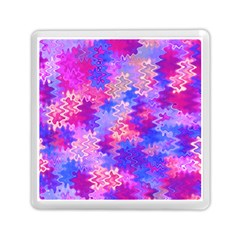 Pink And Purple Marble Waves Memory Card Reader (square)