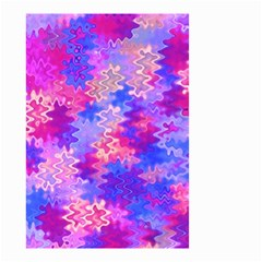 Pink and Purple Marble Waves Small Garden Flag (Two Sides)
