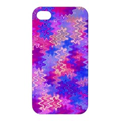 Pink And Purple Marble Waves Apple Iphone 4/4s Premium Hardshell Case