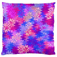 Pink And Purple Marble Waves Large Cushion Cases (two Sides)