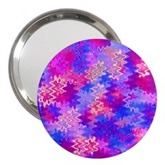 Pink And Purple Marble Waves 3  Handbag Mirrors