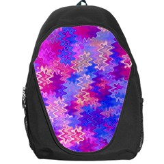 Pink and Purple Marble Waves Backpack Bag