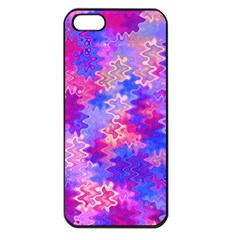 Pink and Purple Marble Waves Apple iPhone 5 Seamless Case (Black)