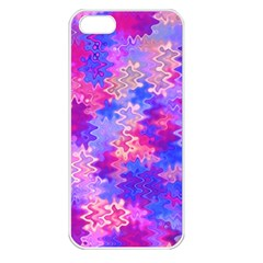Pink And Purple Marble Waves Apple Iphone 5 Seamless Case (white)