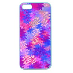 Pink And Purple Marble Waves Apple Seamless Iphone 5 Case (color)