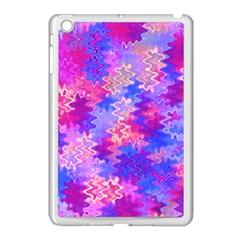 Pink And Purple Marble Waves Apple Ipad Mini Case (white)