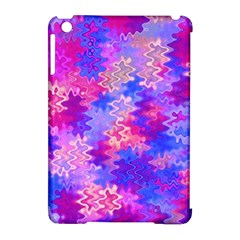 Pink And Purple Marble Waves Apple Ipad Mini Hardshell Case (compatible With Smart Cover)